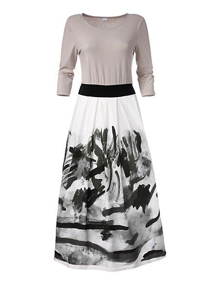 Elegantes Nachthemd Damen champagner/multicolor / hellbraun