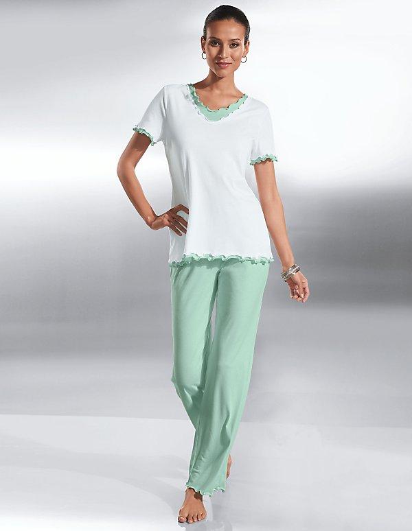 79 48 988 PyjamaBlanc mentheVertBlanc Référence PiwuTOXkZ