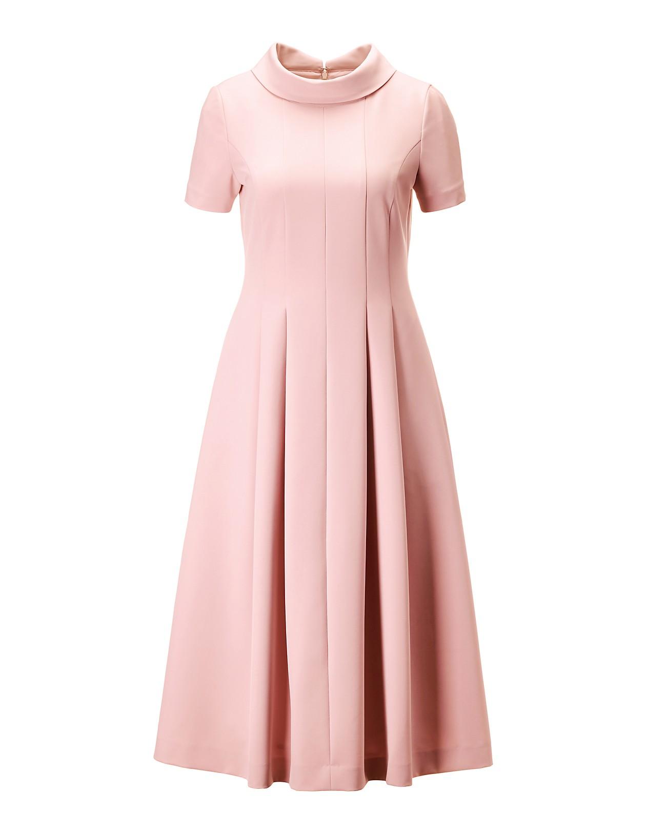 Schwungvolles Kleid mit Halbarm, puderrose, rosa  MADELEINE