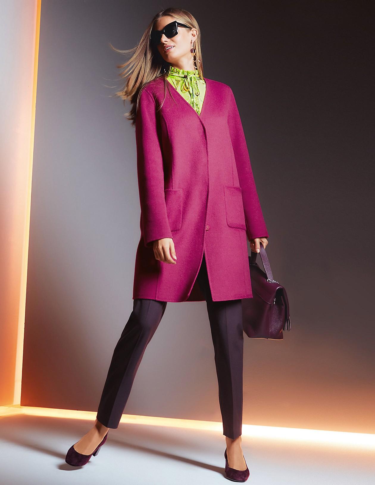 Doubleface Mantel, magenta, pink | MADELEINE Mode